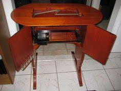 Sewing Cabinet With Lift by No 68 Singer Original Featherweight 221 Cabinet Table With Oval
