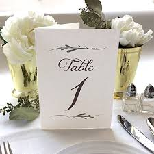 table numbers wedding wedding table numbers 4x6 white folded wedding table