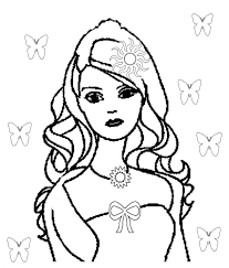 cute barbie doll coloring pages kids coloring pages