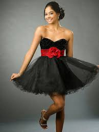 short black and red wedding dresses style design ideas