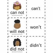 contractions flash cards have fun teaching