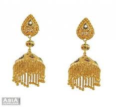 beautiful gold earrings fancy chandelier earrings 22kt ajer53516 22kt gold fancy