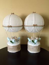 baby shower table centerpieces hot air balloon baby shower table centerpiece by justbabyboutique