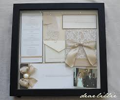 Our Wedding Invitation Program and Menu  box frame lovely way to