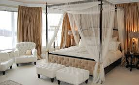 Traditional Bedroom Chairs - some ideas of the various materials of chic white canopy bed for