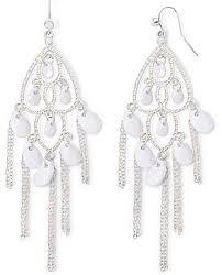 Tory Burch Beaded Chandelier Earring Jcpenney Mixit White Bead Chain Chandelier Earrings Where To Buy