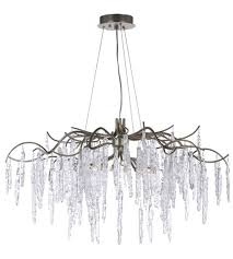 Chandelier Single Maxim 26284icsg Willow 8 Light 35 Inch Silver Gold Single Tier