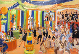 themed paintings painting at a bar mitzvah with a carnival theme live event