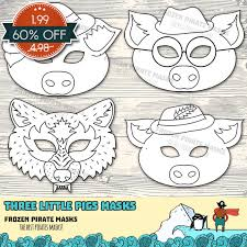 60 sale pigs printable coloring masks