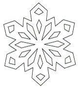 25 unique paper snowflake template ideas on paper