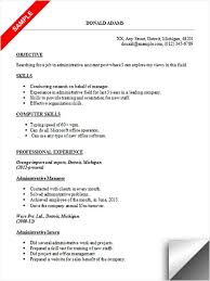 Computer Skills On Resume Sample by Administrative Assistant Resume Sample