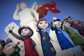 ps4 game invite propaganda and giant monster hunting sim the tomorrow children