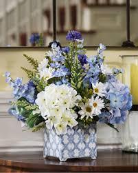 Silk Flower Arrangements For Office - hydrangeas in blue u003cbr u003esilk flower arrangement flower