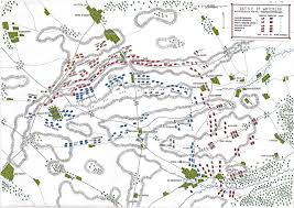 Battle Of Gettysburg Map Map Of The Battle Of Waterloo At 7pm On 18th June 1815 The Attack