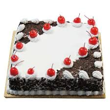 square cake square black forest cake buy online india gift my emotions