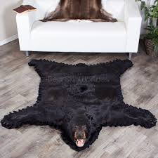 5 Foot Square Rug Black Bear Skin Rugs Bear Skin Rug Sale At Bear Skin World