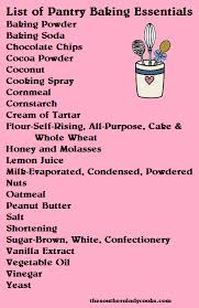 Basic Kitchen Essentials A List Of Basic Baking Items For The Pantry Spice List And