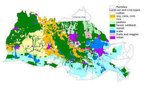 South Louisiana Map by Land And Resource Uses Acadian Pontchartrain Nawqa