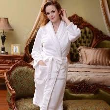 robe de chambre de luxe de chambre blanche femme robe de chambre luxe polaire femme blanche