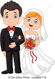 dessin mariage clipart vecteur de cérémonie heureux mariage dessin animé brid
