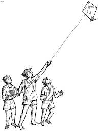 kite coloring pages idea kite outline printable kite coloring
