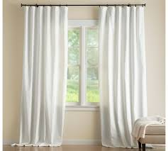 Lined Cotton Curtains Cameron Cotton Pole Pocket Drape Pottery Barn