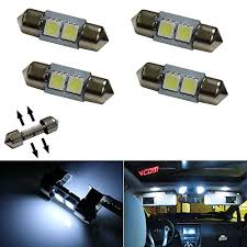 led replacement light bulbs for cars ijdmtoy 4 xenon white 4 smd 1 25 31mm led replacement bulbs for