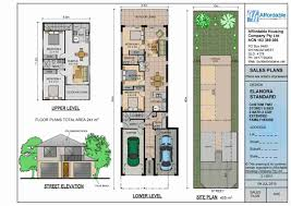 Duplex Plan Duplex Plans For Narrow Lots Trend 26 Plan 2014815 Front