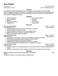 accounts payable resume sample cv for accountant sample by resume