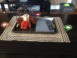 Kitchen Table Runners by Burlap Coffee Table Runner Use Pul Fabric Underneath To Protect