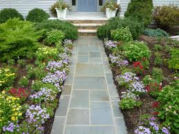 Potted Plant Ideas For Patio by Floor Flagstone Pavers For Footpath Front Yard Ideas With Flowers