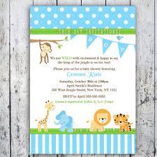 baby shower invitations breathtaking jungle theme baby shower