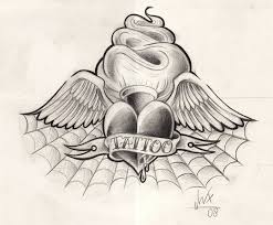 spider web heart tattoo design best tattoo designs