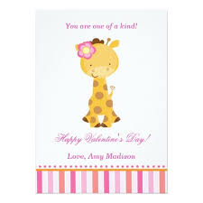 s day giraffe valentines day kids giraffe pink girl card day ideas