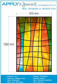 Stained Glass Window Decals How To Apply Bubble Free Transparent Window Film Applyityourself