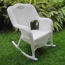 White Wicker Rocking Chair Outdoor International Caravan Maui Resin Wicker Outdoor Rocking Chair