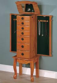 coaster classic oak jewelry armoire 900135