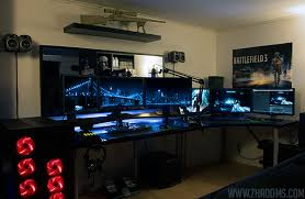 Gaming Desk Setup by Stylish 30 Coolest And Inspiring Multi Monitor Gaming Setups