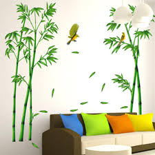 bamboo wall stickers promotion shop for promotional bamboo wall green bamboo forest wall stickers vinyl diy decorative mural art for living room cabinet decoration home decor