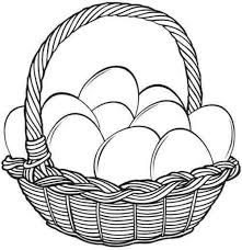 easter basket with eggs coloring page 115 best easter coloring pages images on pinterest drawings