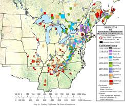York Pennsylvania Map by White Nose Syndrome Map White Nose Syndrome