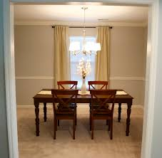 decorating modern interior lights design with nice kichler dark wood dining table with table runner and