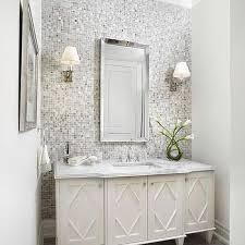 bathroom accent cabinet gray mosaic tiled bathroom accent wall contemporary bathroom