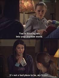 Gilmore Girls Meme - rory gilmore joins lorelai gilmore s drunken world on gilmore girls