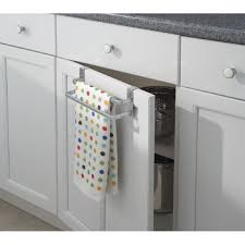 over the cabinet towel bar towel