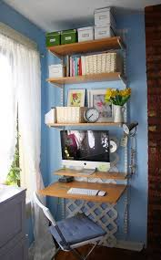 Small Apartment Desks Diy Home Office Small Spaces Decorating Your Small Space