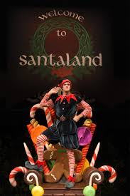 santa land here lighted sign theatreworks presents the cure for holiday hype the santaland