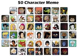 Meme Characters - my 50 favorite characters meme by tito mosquito on deviantart