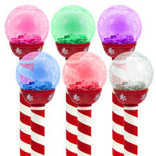 Candy Canes Lights Outdoor by 6pk Led Solar Pathway Lights Christmas Crackle Color Changing