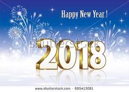 new year s postcards postcard happy new year 2018 on stock vector 695413081